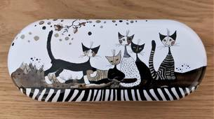 Rosina Wachtmeister Etui à lunettes chats Cats Sepia